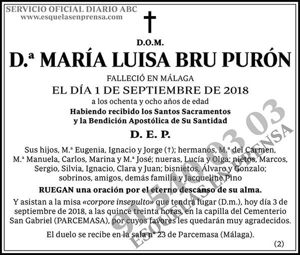 María Luisa Bru Purón
